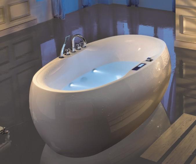 椭圆形无缝对接一体式贵妃浴缸 1.8m LS-9307