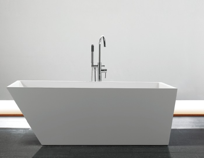 亚克力薄边方形无缝对接浴缸 1700x800x600mm