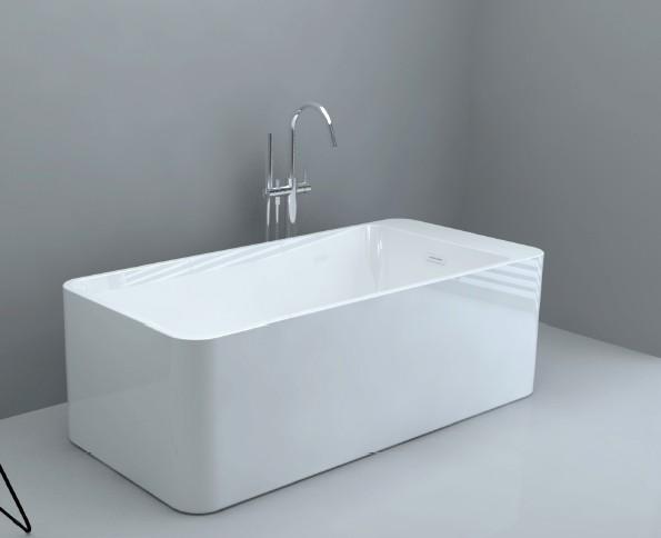 亚克力方形薄边无缝对接浴缸 1700x800x600mm