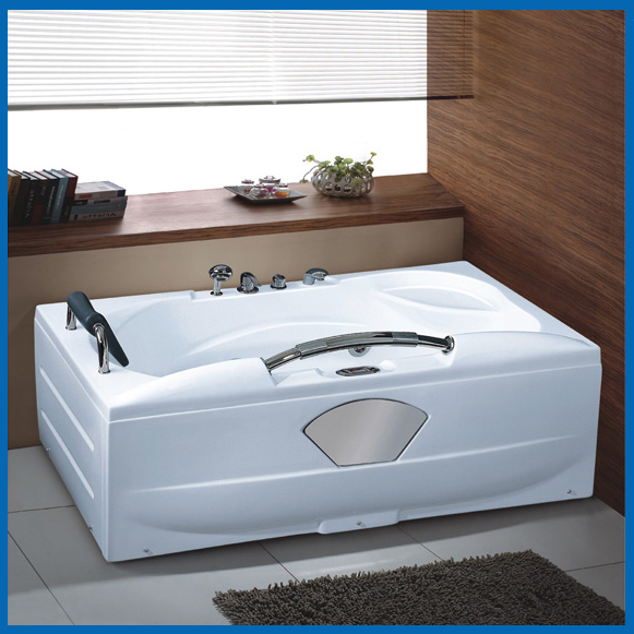 single person acrylic whirlpool tub with grab bar 1700X900X700mm ...