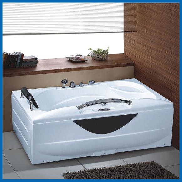 单人按摩浴缸带扶手 1700X850X700