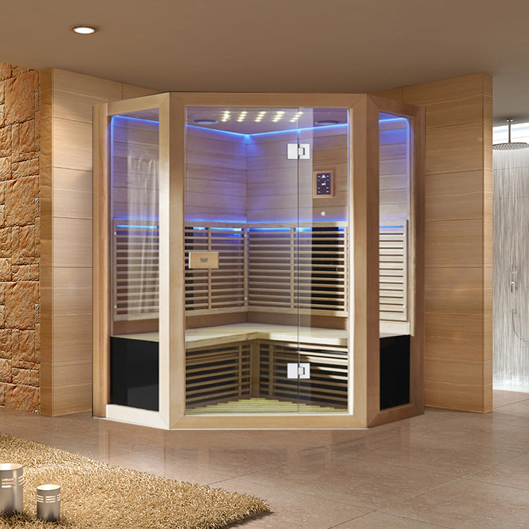diamond shape sauna room custom sauna room