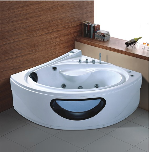 Charming Corner Whirlpool Bathtub Jacuzzi Jetted Tub