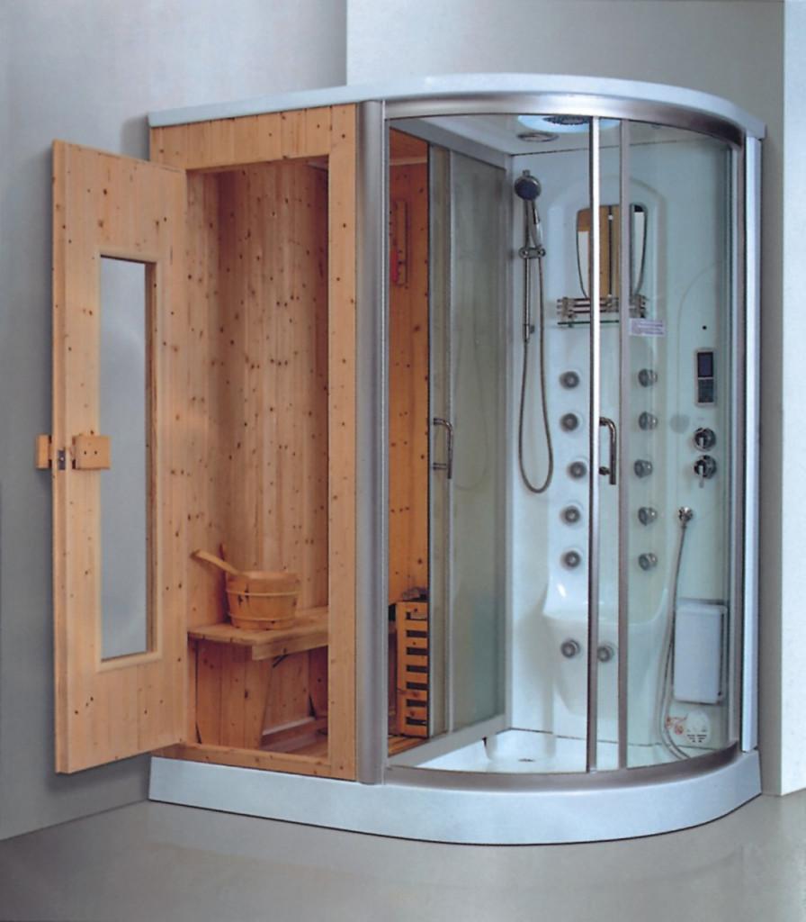 sauna room with door and steam shower combo 1.6m 1.7m