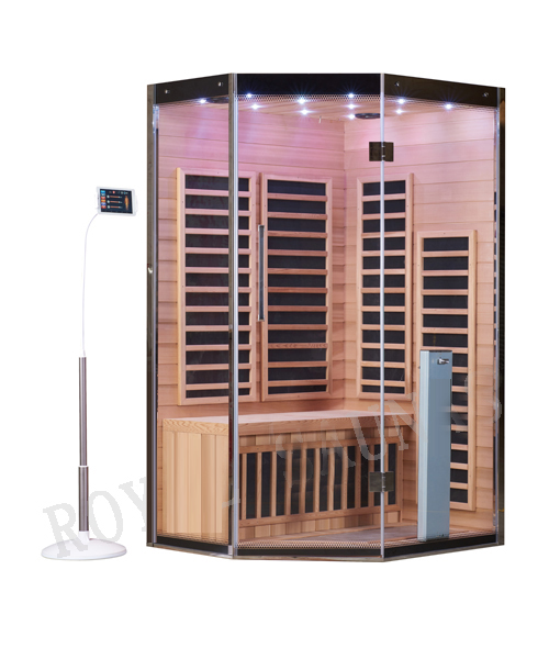 1500×1500 diamond shape infrared sauna cabin