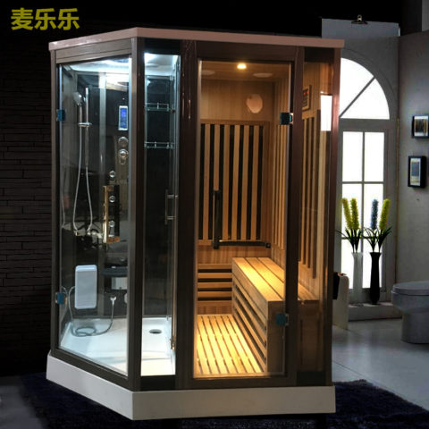 Diamond Shape Infrared Sauna And Steam Shower Combo