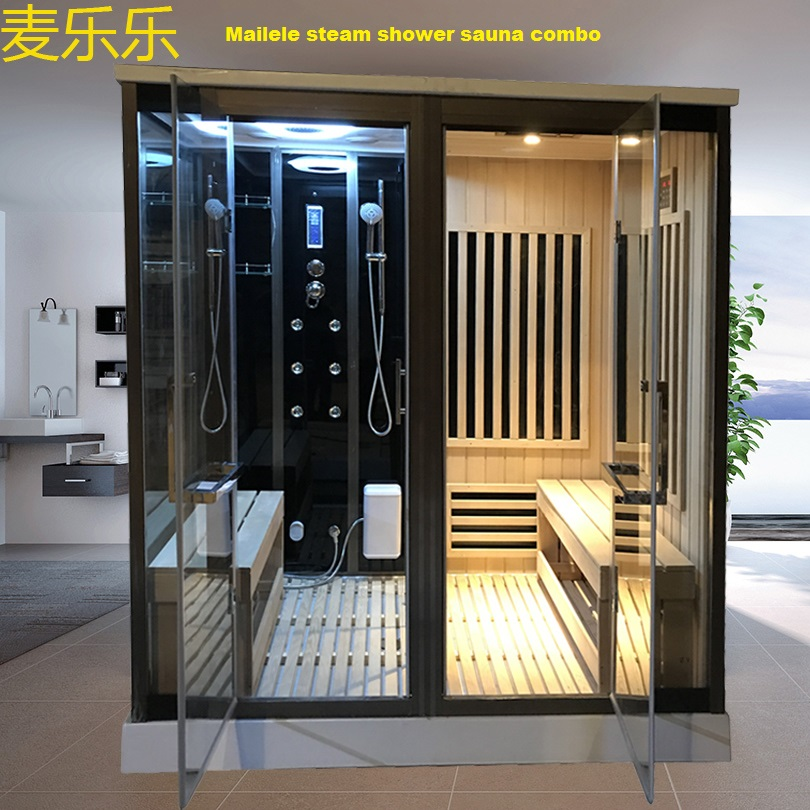 Infrared Sauna Steam Shower Combination